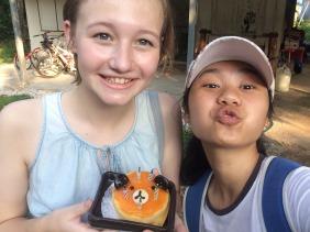 Baitoey and I with cake!