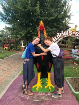 555 Chiara, me, and a very big chicken
