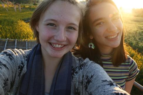 Sofia and I.