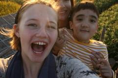 Sofia, Daniel, and I.
