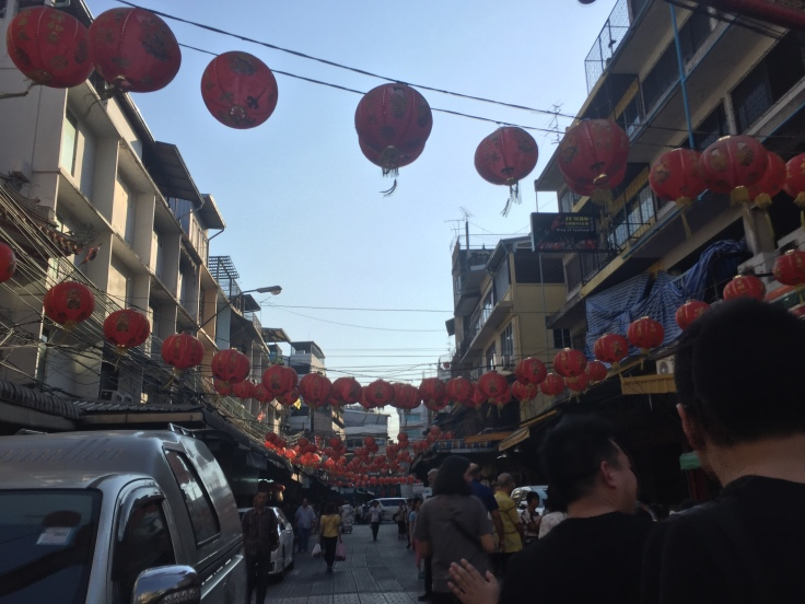 The streets of Chinatown.